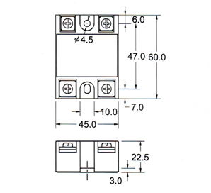 Dimensions for Single Phase SSR