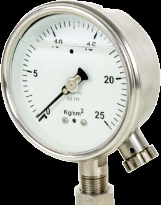 pressure gauge with zero external adjustment