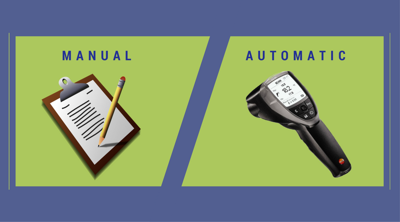 automatic vs. manual infrared thermometer