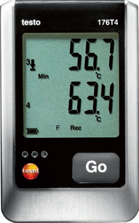 Testo 176 T4 - Four Thermocouple Temperature Logger