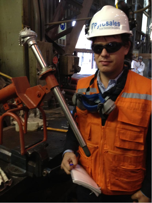 AngloAmerican in Chile install a Pyrosheath LT-1 Sensor
