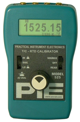 PIE 525B Automated Thermocouple & RTD Calibrator