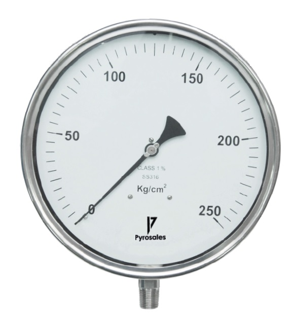 Bourdon pressure gauge 250mm