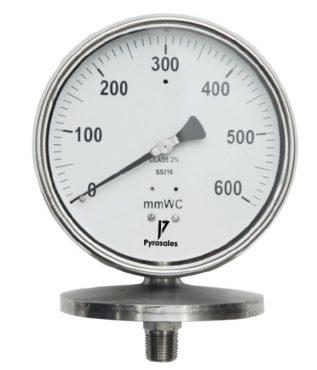 Diaphragm sending pressure gauge