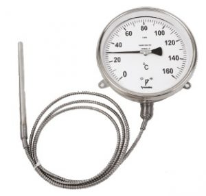 Gas filled dial thermometer temperature gauge