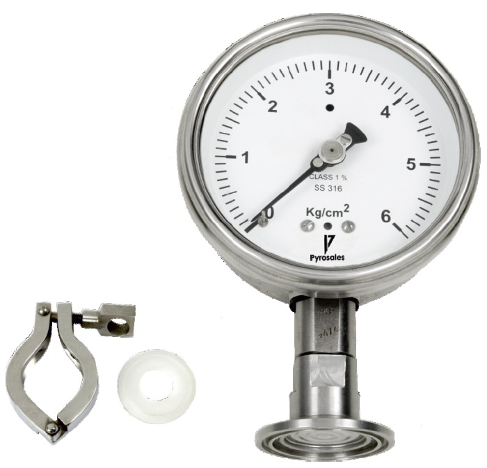 Hygiene pressure gauge