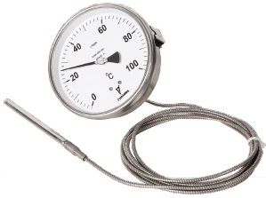 Liquid filled dial thermometer temperature gauge
