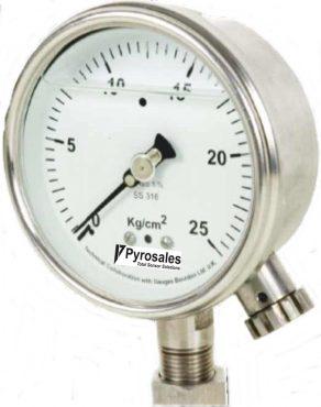 Pressure Gauge Zero adjustment