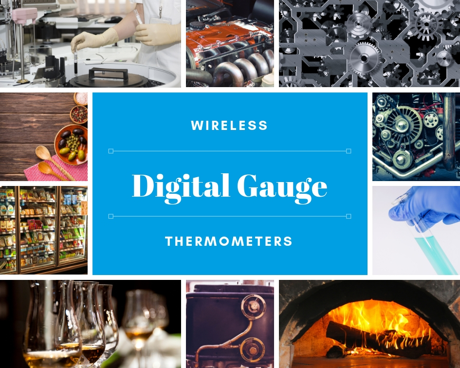 wireless digital gauge thermometers applications