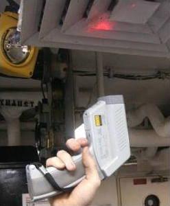 laser sight digital pyrometer