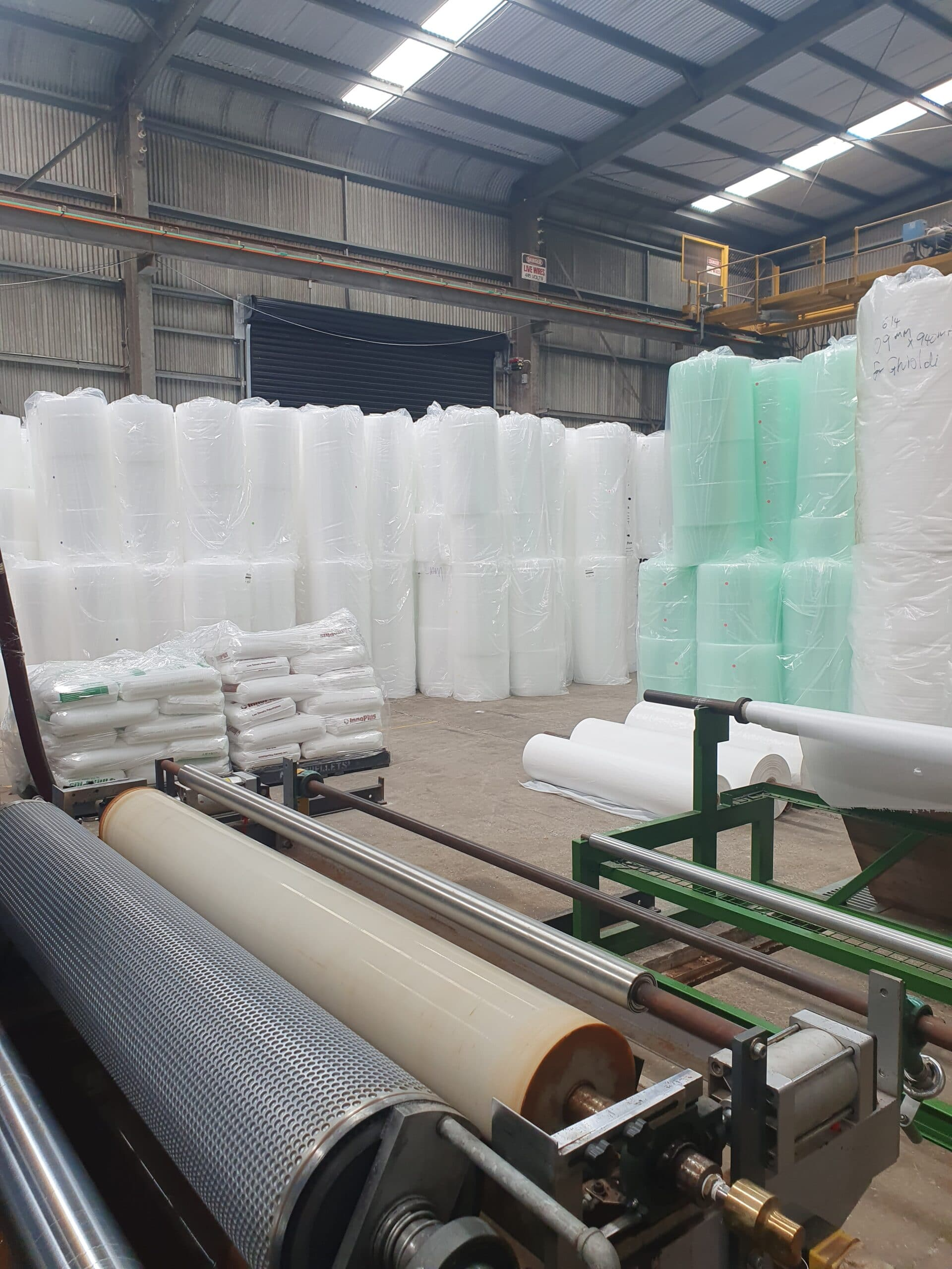 Thermocouples help the bubble wrap industry